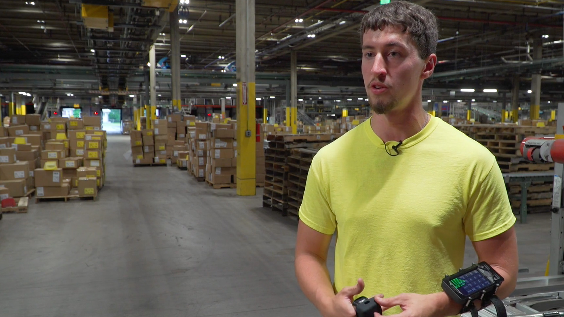 warehouse wearable device solution